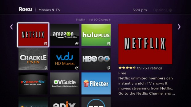 roku channel with description