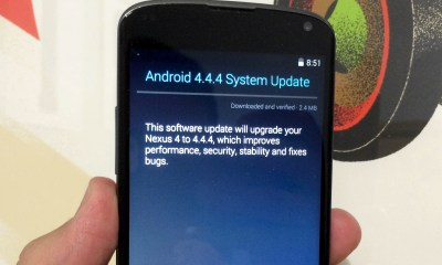 Installing Android 4.4.4 was painless, once the Nexus 4 was charged up enough.