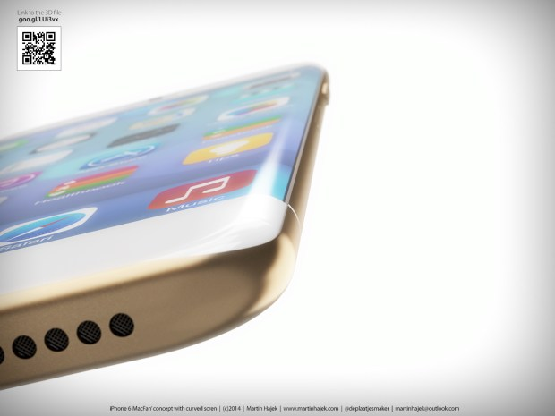 A curved iPhone 6 display could be on the way according to a new report.