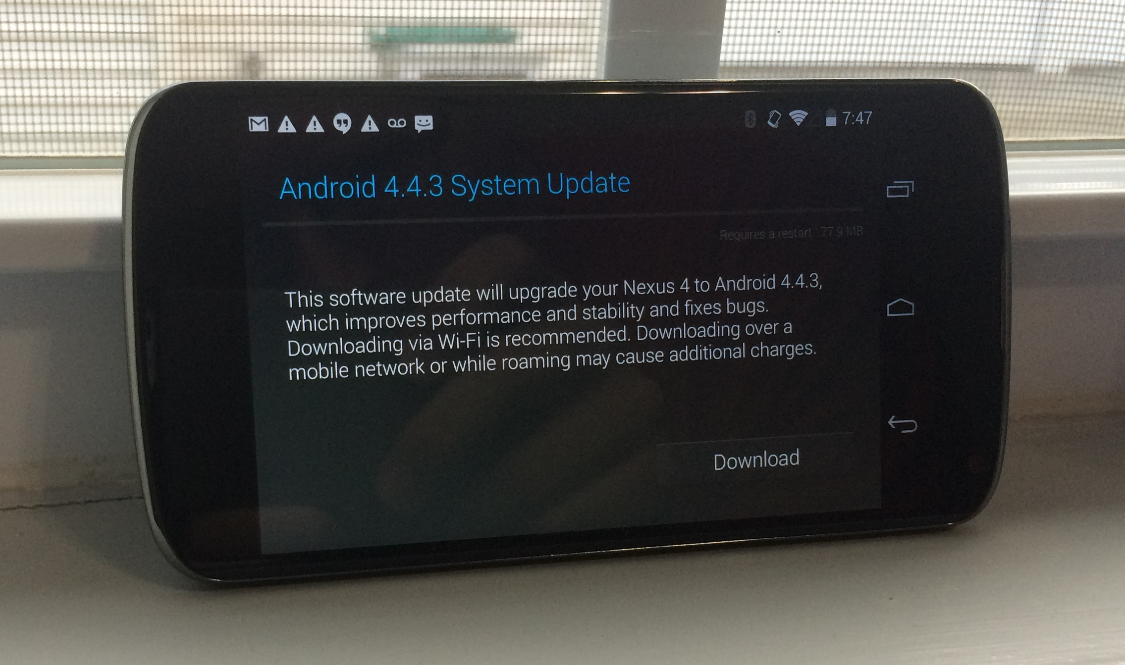 Nexus 4 Android 4.4.3 Review Early - 3