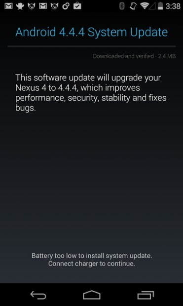 Besides Google's Nexus devices, the Android 4.4.4 KitKat update is expected to land for the Droid Ultra, Droid Maxx and Droid Mini.
