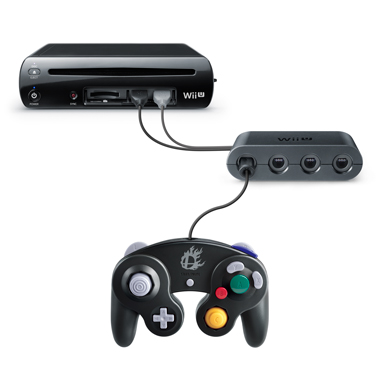 Super Smash Bros for Wii U Gamecube Controller Adapter