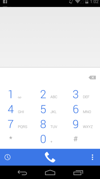 This is the new dialer in Android 4.4.3 KitKat.