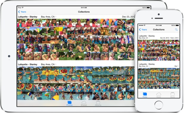 Any photo you take on an iPhone or import to your Mac is available in the cloud for easy sharing with your iPad running iOS 8.