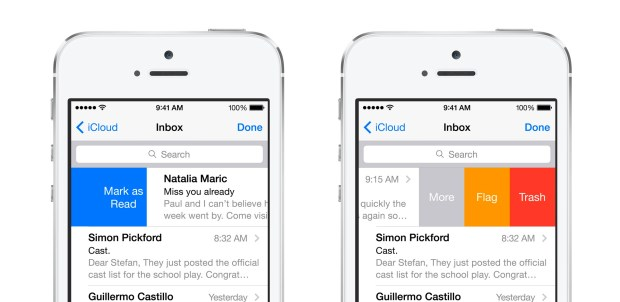 Many new features are in the iOS 8 Mail app.