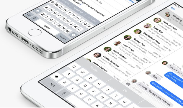 The iOS 8 iPad update adds a cool new keyboard.