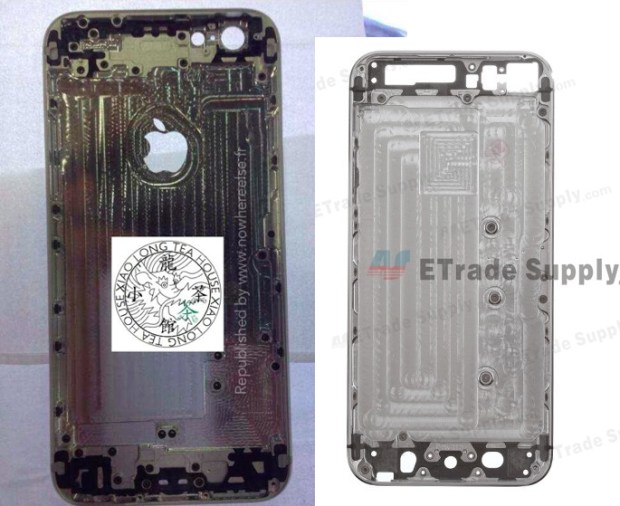 iPhone 6 back vs iPhone 5s back.