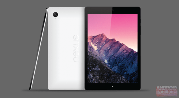 This is an early render of the Nexus 9