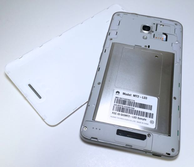 back of ascend mate2 without cover on