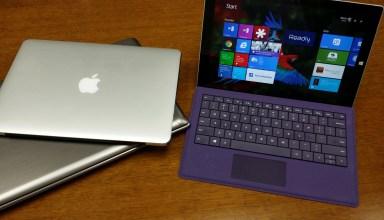 microsoft surface pro 3 and two other laptops