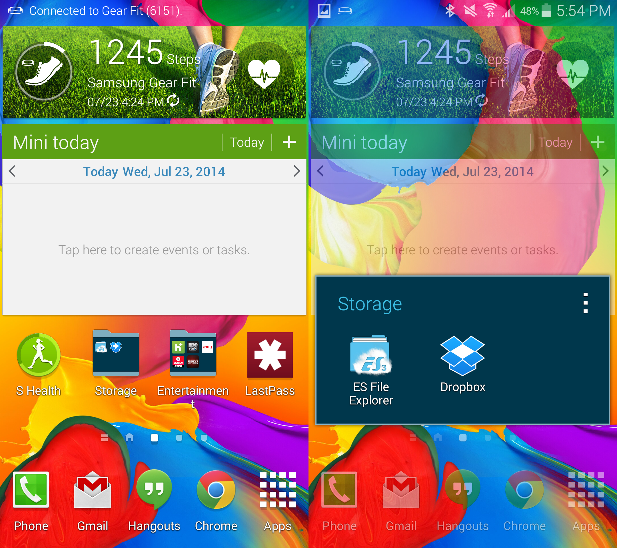 how to delete photos from dropbox on galaxy s5