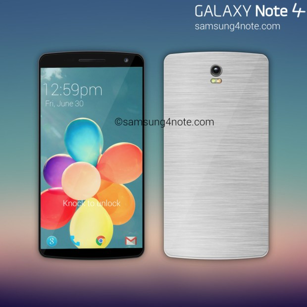This Samsung Galaxy Note 4 concept shows a metal design.