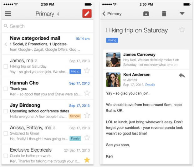 Gmail for iPhone