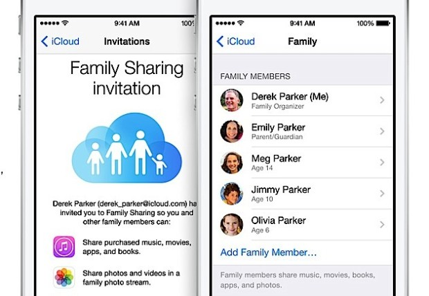 Share your apps, music and movies in iOS 8 without sharing an account.