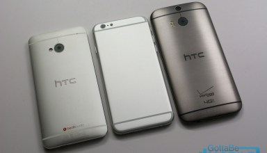 This iPhone 6 vs HTC One photo shows how the devices may compare in looks.