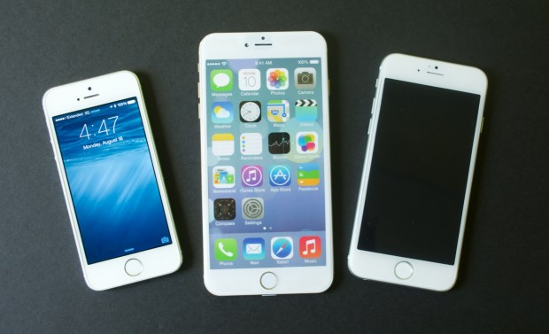 The iPhone 5s and 4.7-inch iPhone 6 are easy to use in one hand, but the 5.5-inch iPhone 6 is too big to use with one hand.