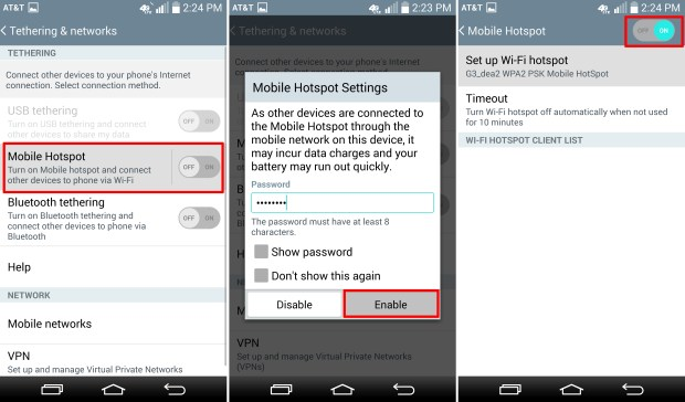 How to Use the LG G3 as a Personal Hotspot
