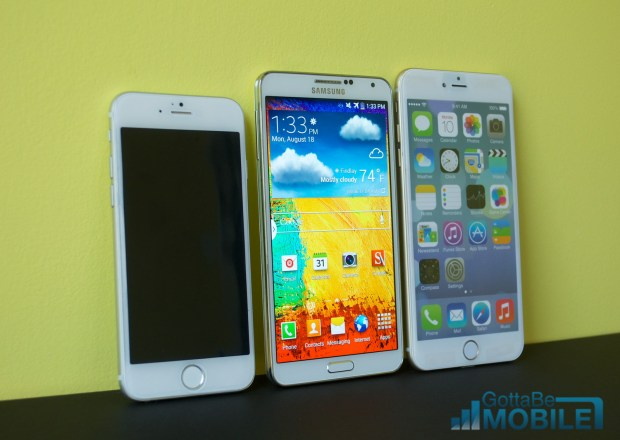 The Galaxy Note 3 vs iPhone 6 display comparison shows increased competition, but a Note 3 display is still bigger.