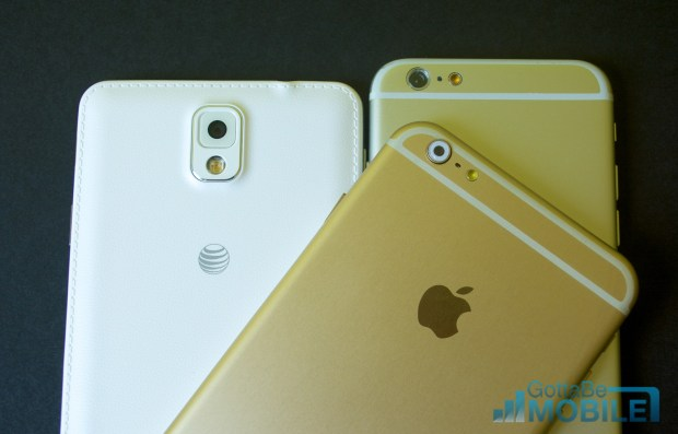 The newer iPhone 6 still plays catch up to the Galaxy Note 3 in some areas.