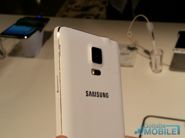 The Galaxy Note 4 features a new design with aluminum and a soft touch back.
