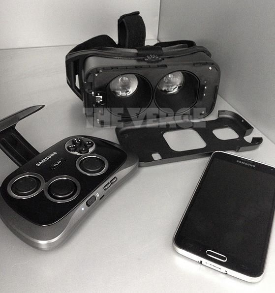 This could be Samsung's Gear VR virtual reality headset.