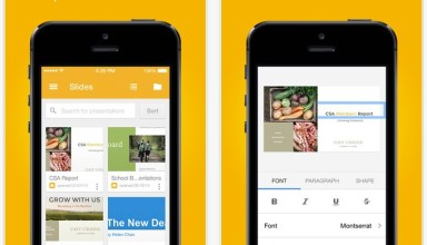 Google Slides app for iOS