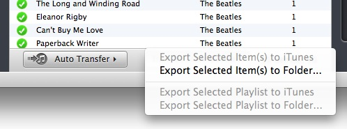 Click on Export selected song to: the option you want.