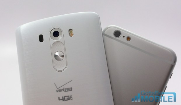 The LG G3 includes laser focus, but the iPhone 6 camera rumors are still not clear.