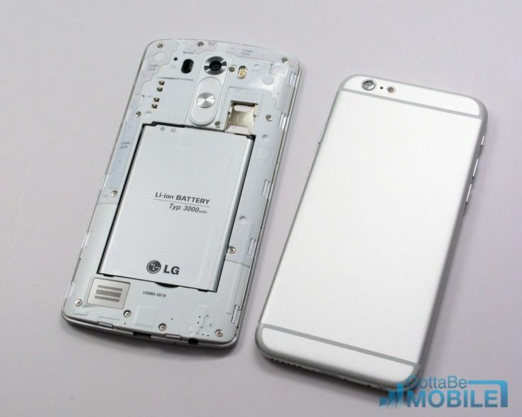 LG G3 vs iPhone 6 - Design - Battery & Storage