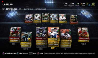 New MUT lineup options let players automatically get the best lineup based on overall rating, or by play style in Madden 15.