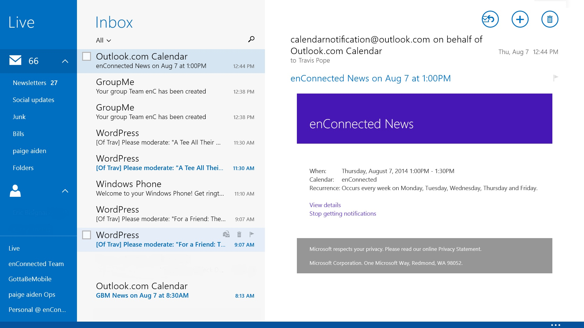 Outlook For Windows 8
