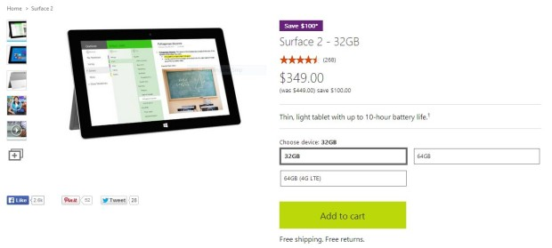 Surface 2 Price Cut