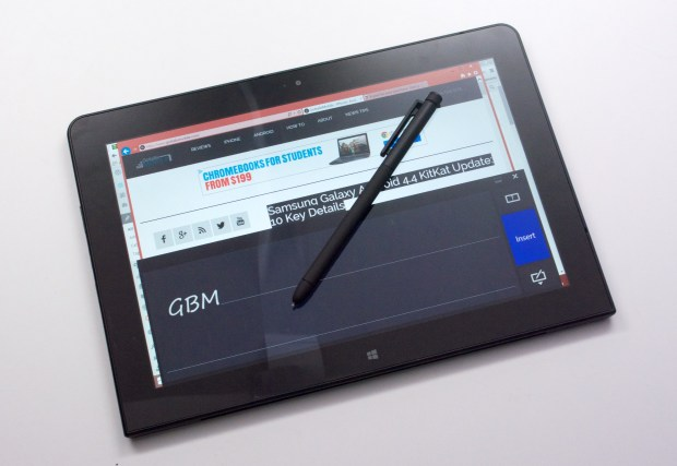 The stylus is a handy way to take notes and to use the handwriting keyboard option.