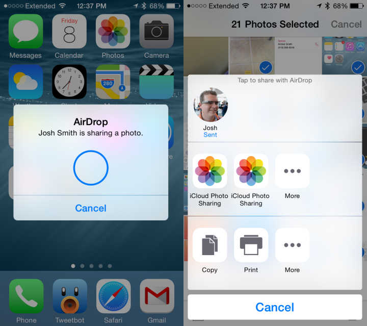 airdrop between iphone and mac what s new in ios 8 16559