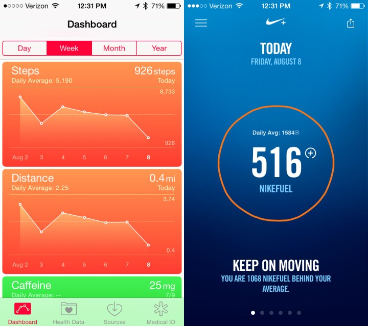 iOS 8 vs iOS 7 Health Tracking