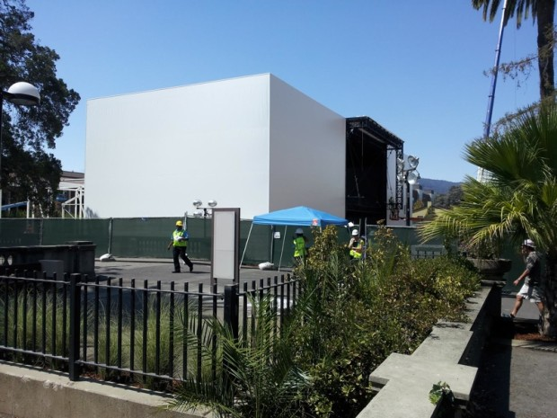 Apple is construction a building for the iPhone 6 special event.