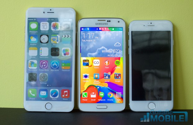 iPhone 6 vs Galaxy S5 displays