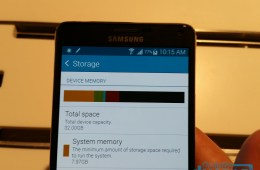 Galaxy Note 4 System memory
