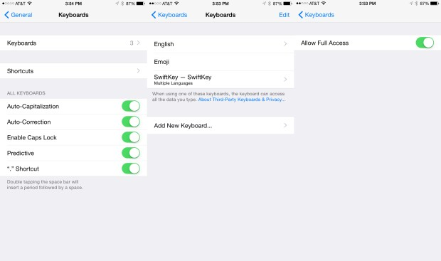 Here's how to install an iOS 8 keyboard.