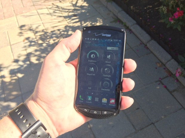 You can use the Kyocera Brigadier in the sun.