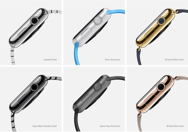 six designs of apple watch