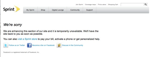 Sprint iPhone 6 pre-orders were hit with errors.