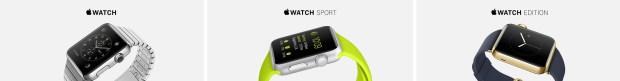 apple watch three styles