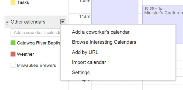 google calendar browser interesting