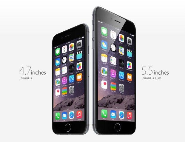 Here's a look at the iPhone 6 vs iPhone 6 Plus.