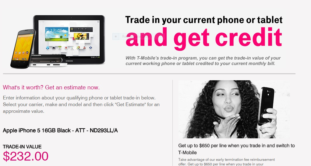 t mobile iphone trade in iphone 6 trade in deals compared 18063
