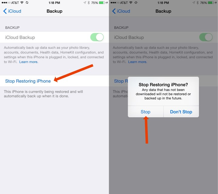 How to Stop an iCloud Restore That is Stuck
