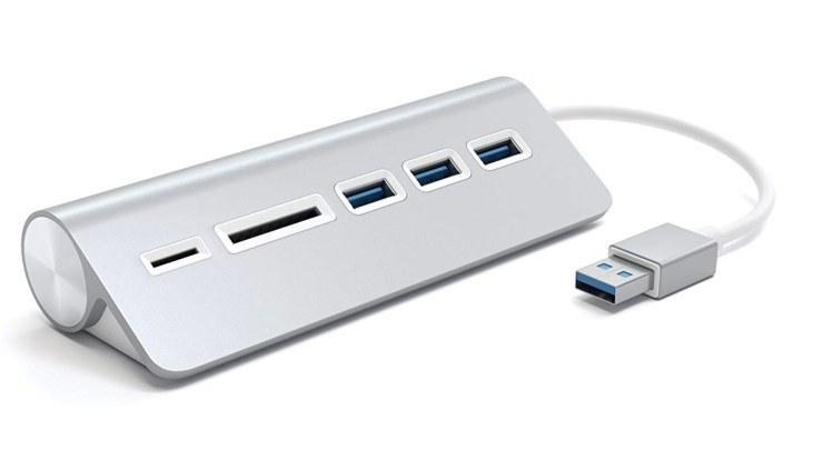 Add a USB 3.0 hub to your Mac for easy access to the ports and card readers you need.