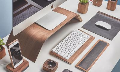 Opt for a walnut iMac stand and accessories from Grovemade.