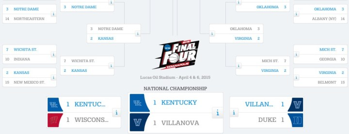 If you fill out your NCAA brackets online you can use autocomplete to pick the winners for you.